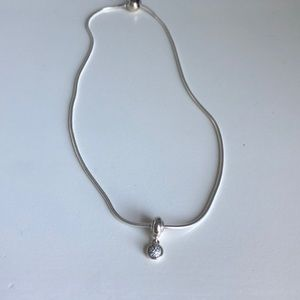 SOLD- pandora necklace with HOPE charm